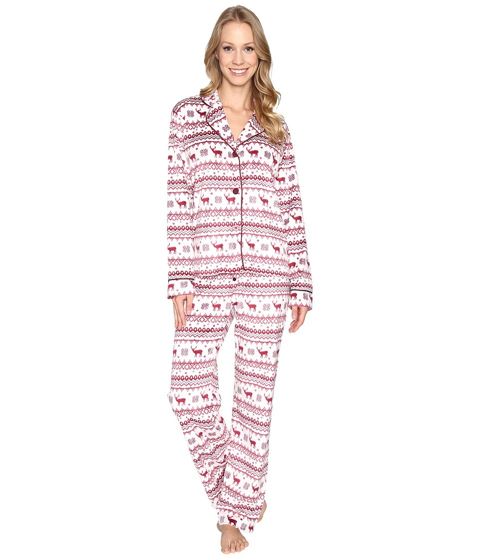 P.J. Salvage - Nordic Nostalgia Fleece PJ Set (Natural) Women's Pajama Sets