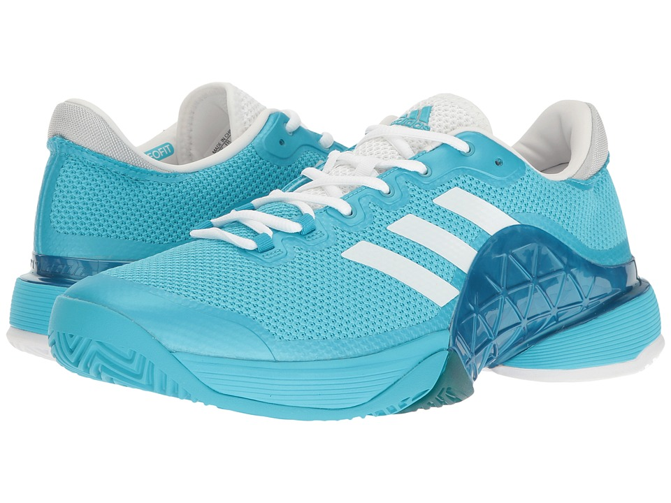 adidas - Barricade 2017 (Samba Blue/Footwear White) Men's Tennis Shoes