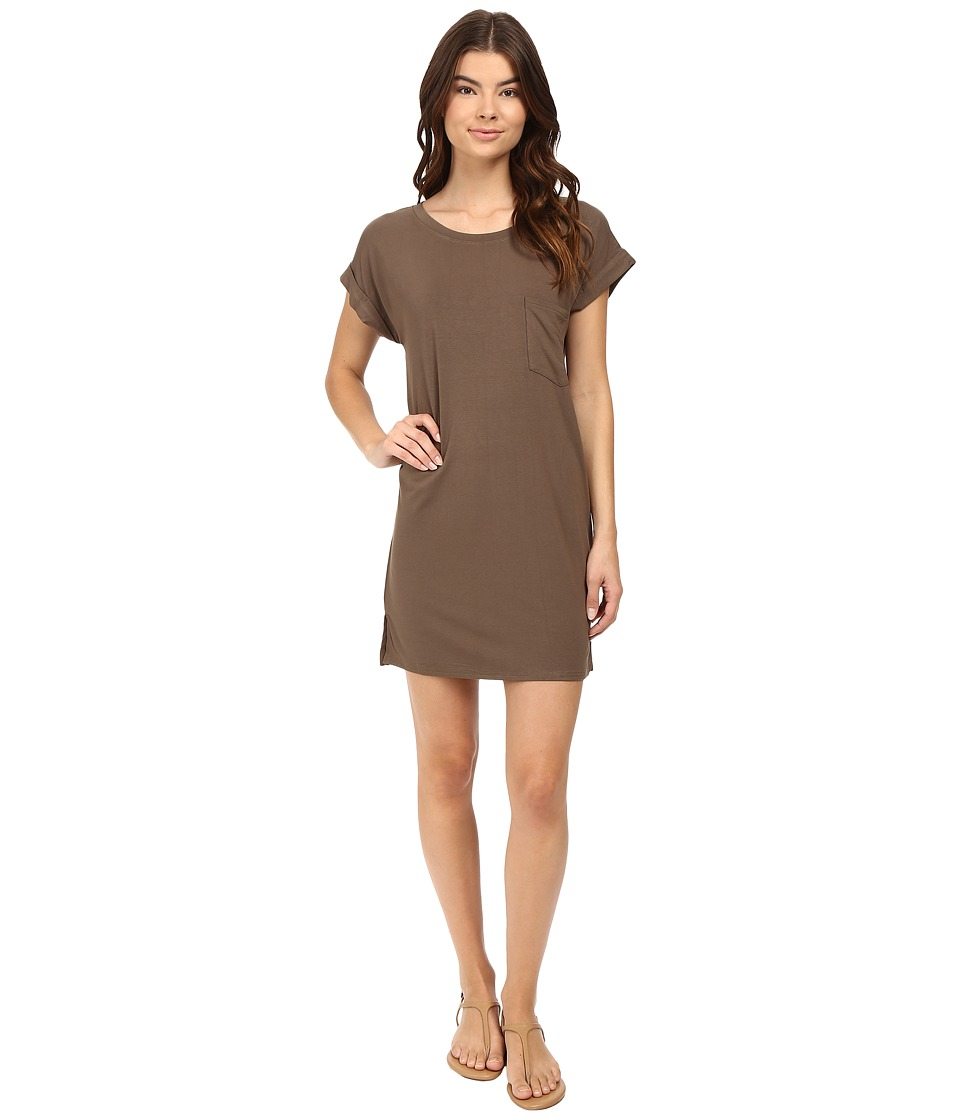 Culture Phit - Adie T-Shirt Dress with Pocket (Olive) Women's Dress