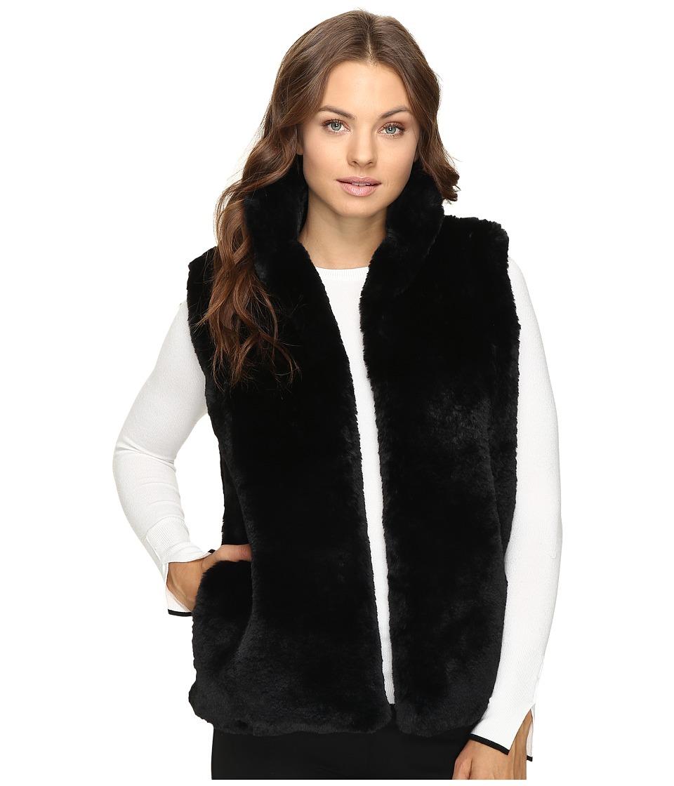 Brigitte Bailey - Lulu Faux Fur Vest (Black) Women's Vest