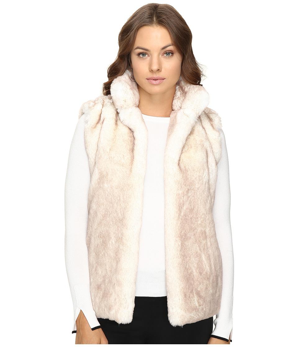 Brigitte Bailey - Lulu Faux Fur Vest (White/Tan) Women's Vest