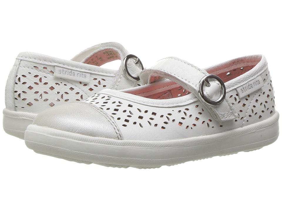 Stride Rite - Poppy (Toddler/Little Kid) (White) Girls Shoes