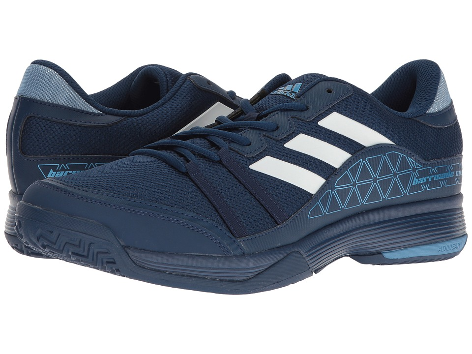 adidas - Barricade Court (Mystery Blue/Footwear White/Tech Blue Metallic) Men's Tennis Shoes