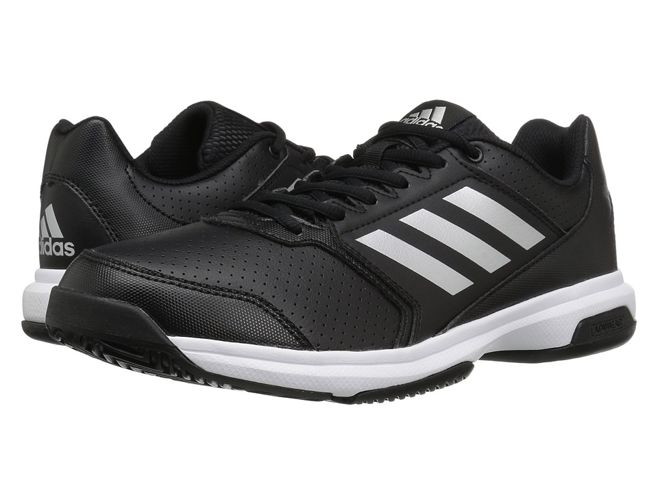 adidas - Adizero Attack (Black/Silver Metallic/White) Men's Tennis Shoes