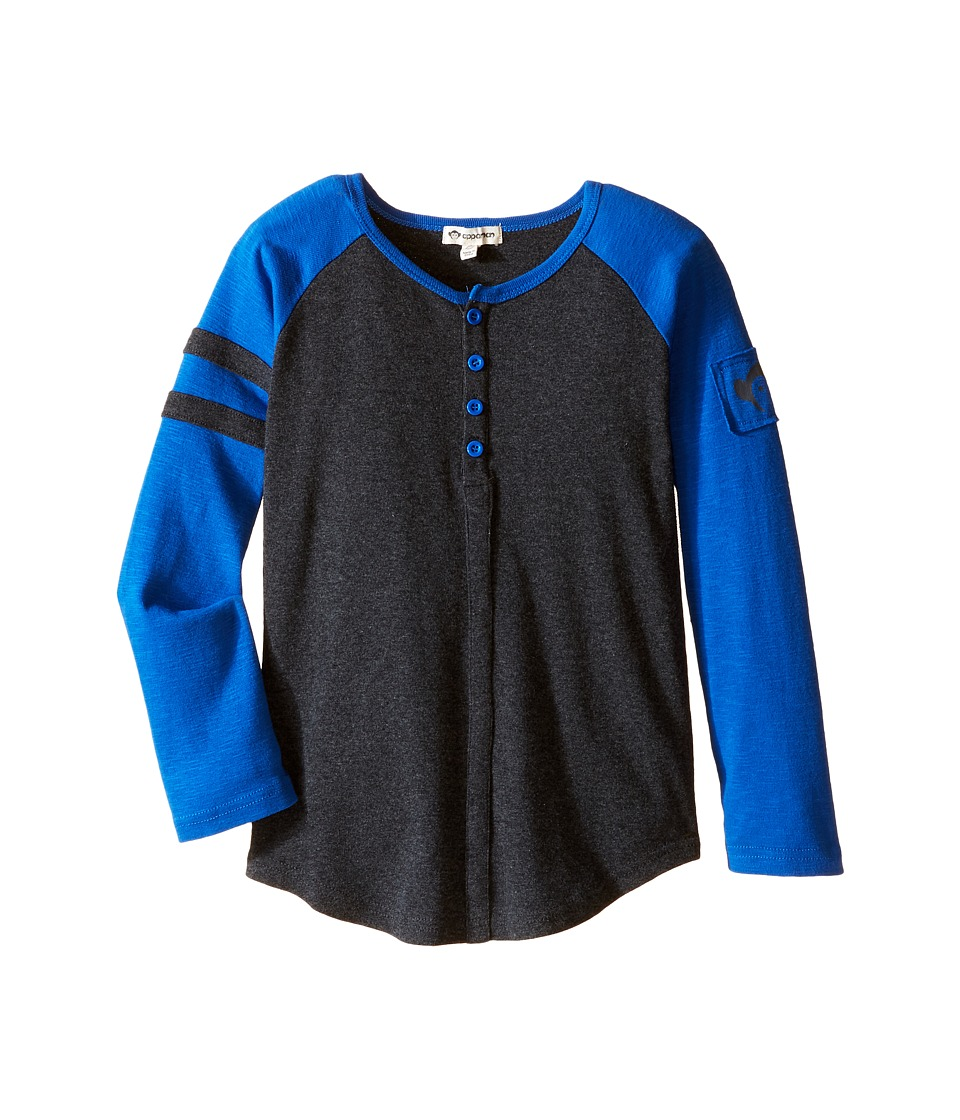 Appaman Kids - Baseball Henley (Toddler/Little Kids/Big Kids) (Classic Blue) Boy's Clothing