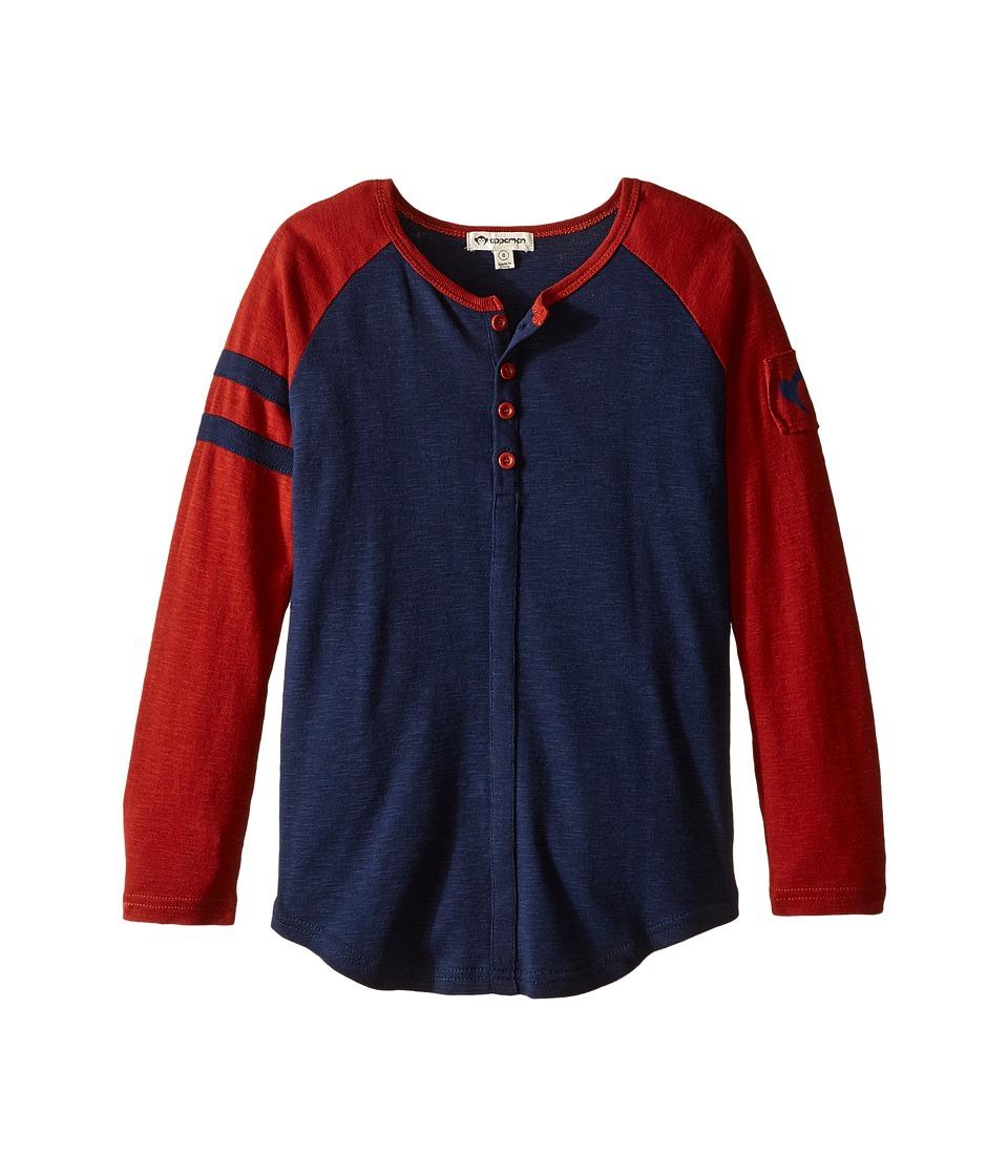 Appaman Kids - Baseball Henley (Toddler/Little Kids/Big Kids) (Dress Blues) Boy's Clothing