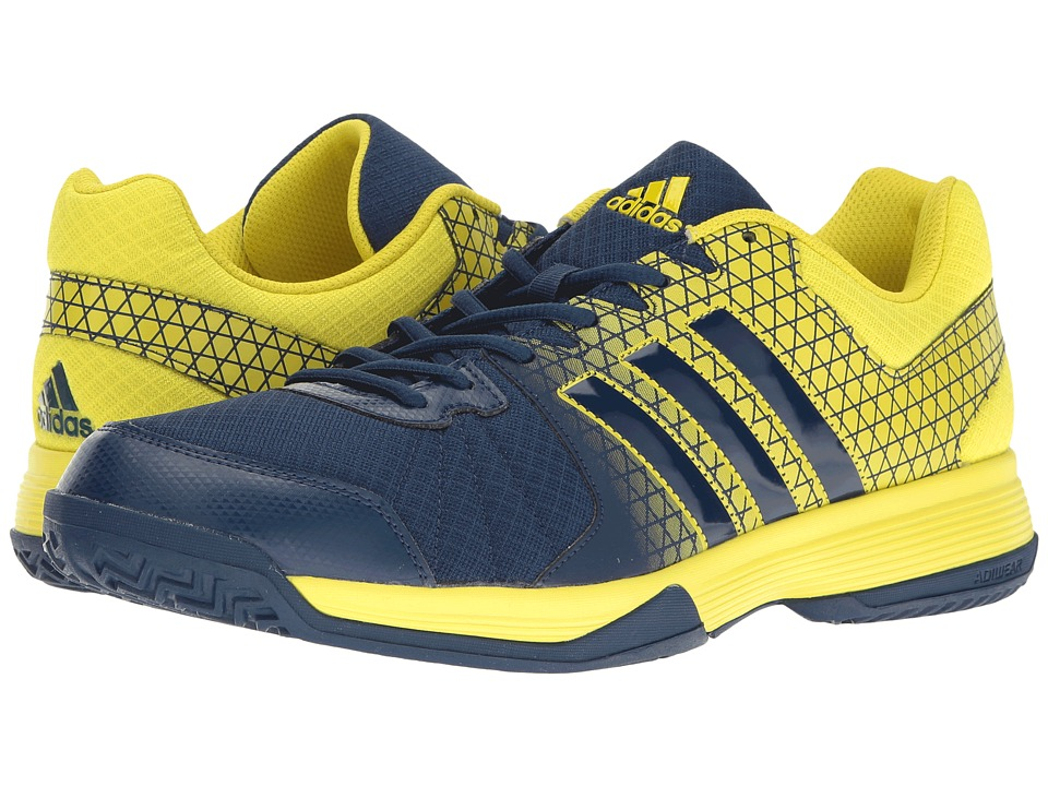 adidas - Ligra 4 (Bright Yellow/Mystery Blue) Men's Volleyball Shoes