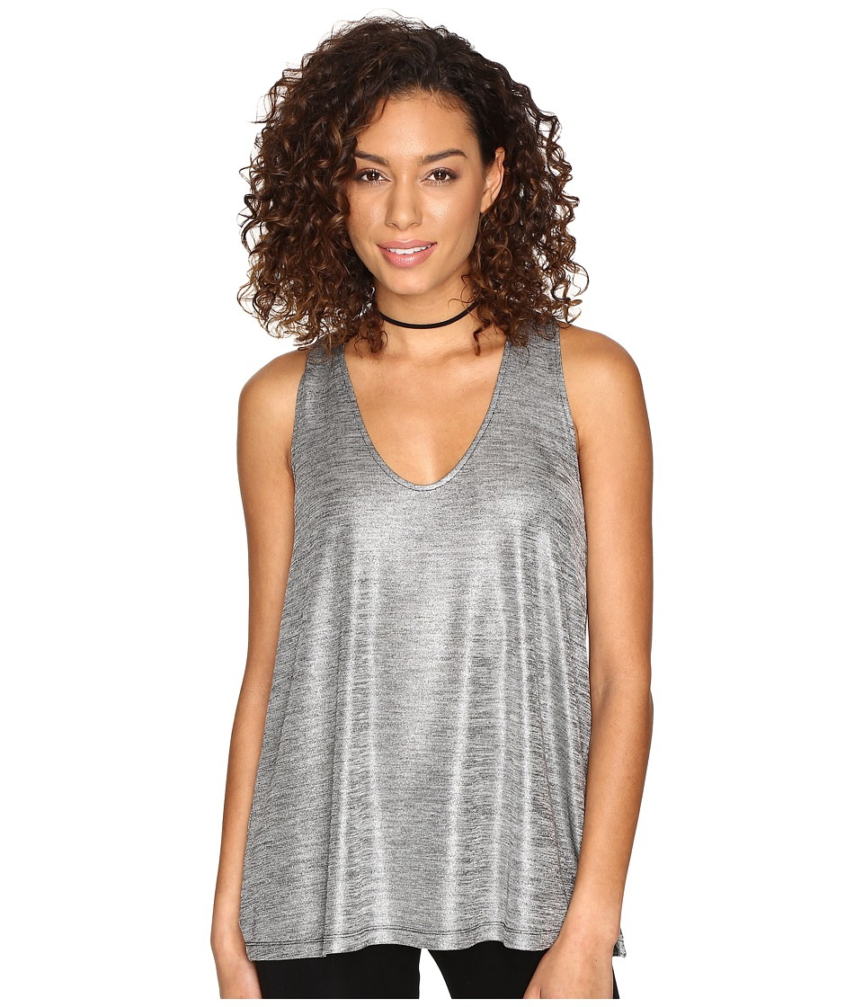 Jack by BB Dakota - Denzel Foiled Jersey Sleeveless Top (Silver) Women's Sleeveless