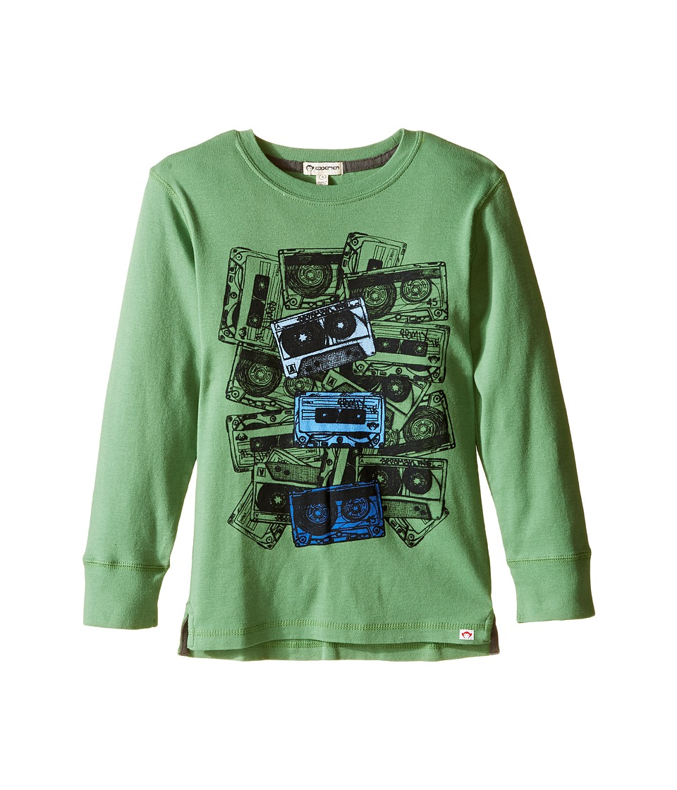 Appaman Kids - Long Sleeve Casette Tee (Toddler/Little Kids/Big Kids) (Online Green) Boy's T Shirt