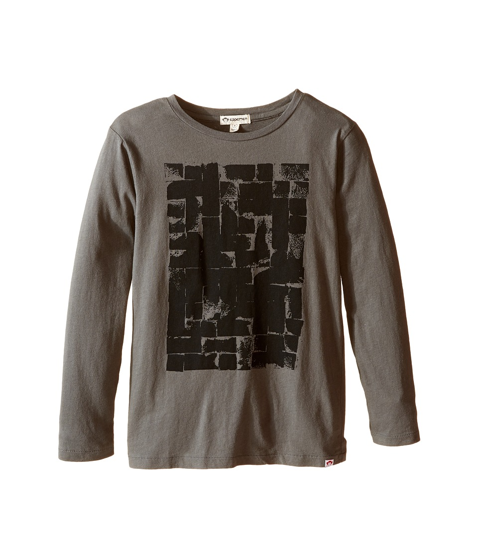Appaman Kids - Long Sleeve Brick Tee (Toddler/Little Kids/Big Kids) (Gunmetal) Boy's T Shirt