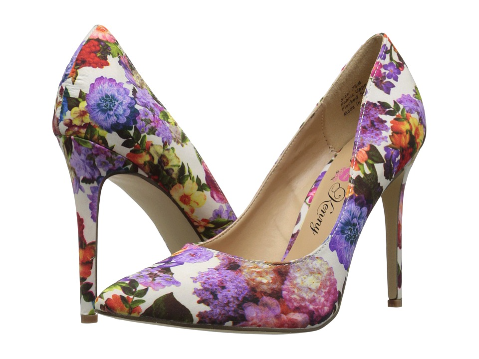 Penny Loves Kenny Opus Flower (White Multi) High Heels