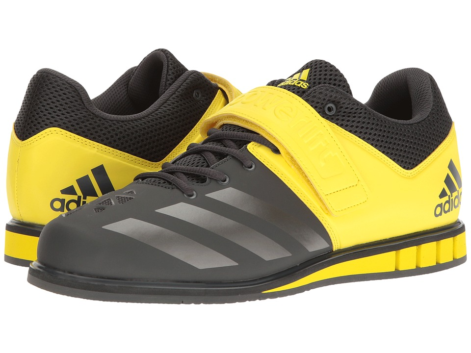adidas - Powerlift 3 (DGH Solid Grey/Night Metallic/Bright Yellow) Men's Shoes