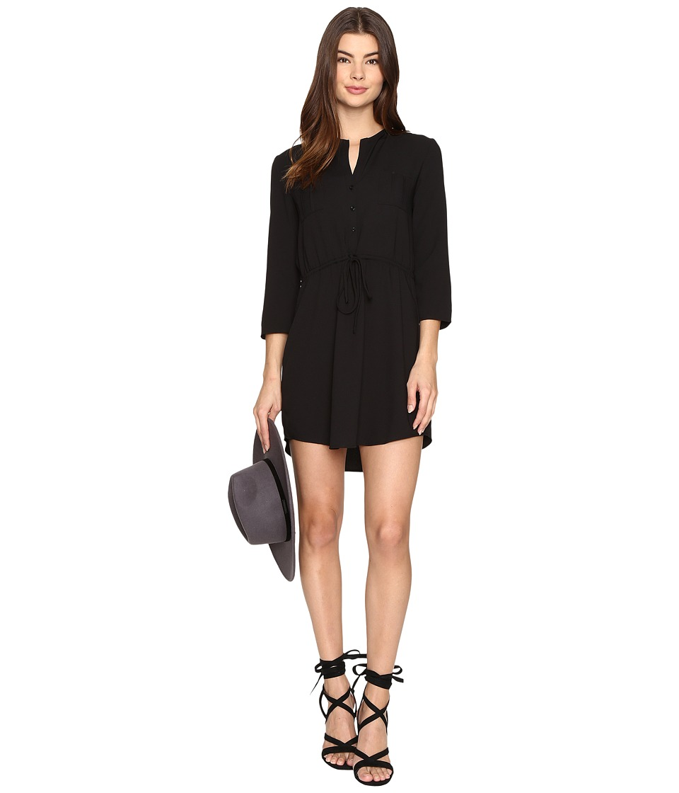 Jack by BB Dakota - Kesler Cape Drawstring Waist Dress (Black) Women's Dress