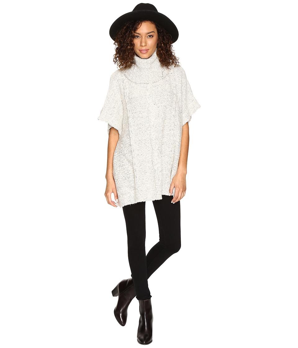 Jack by BB Dakota - Keandre Marled Cable-Knit Poncho (Ivory) Women's Clothing