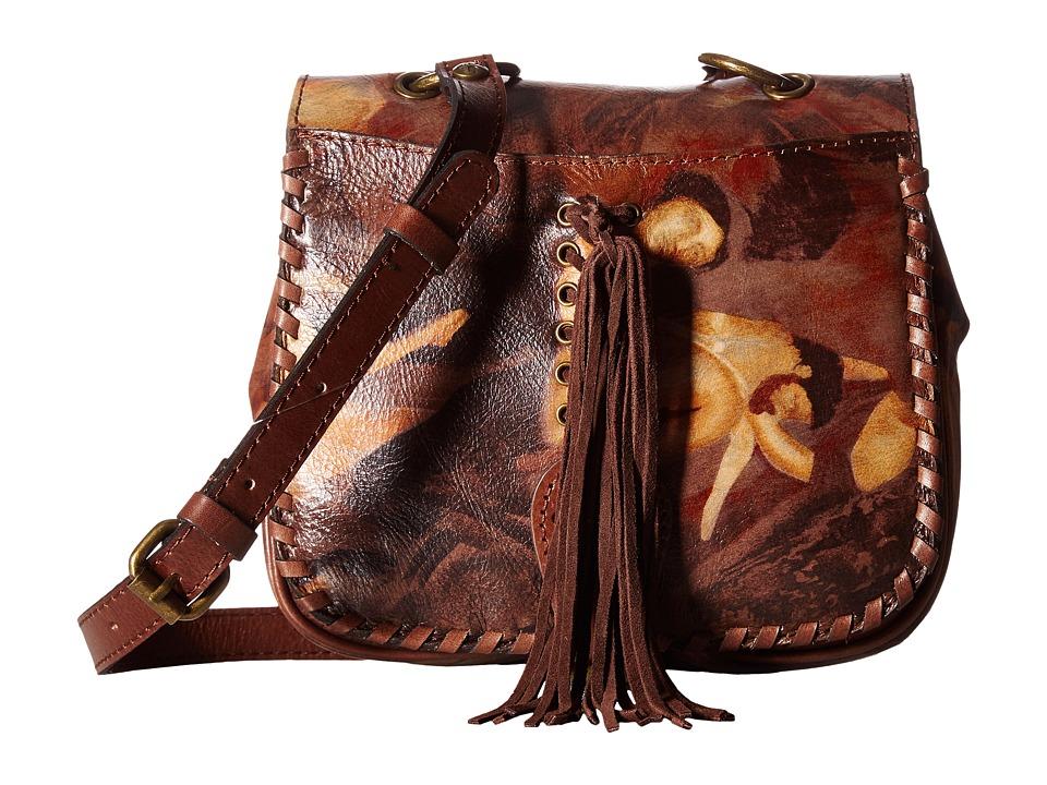 Patricia Nash - Karisa Small Crossbody Saddle Bag (Roman Goddess) Cross Body Handbags