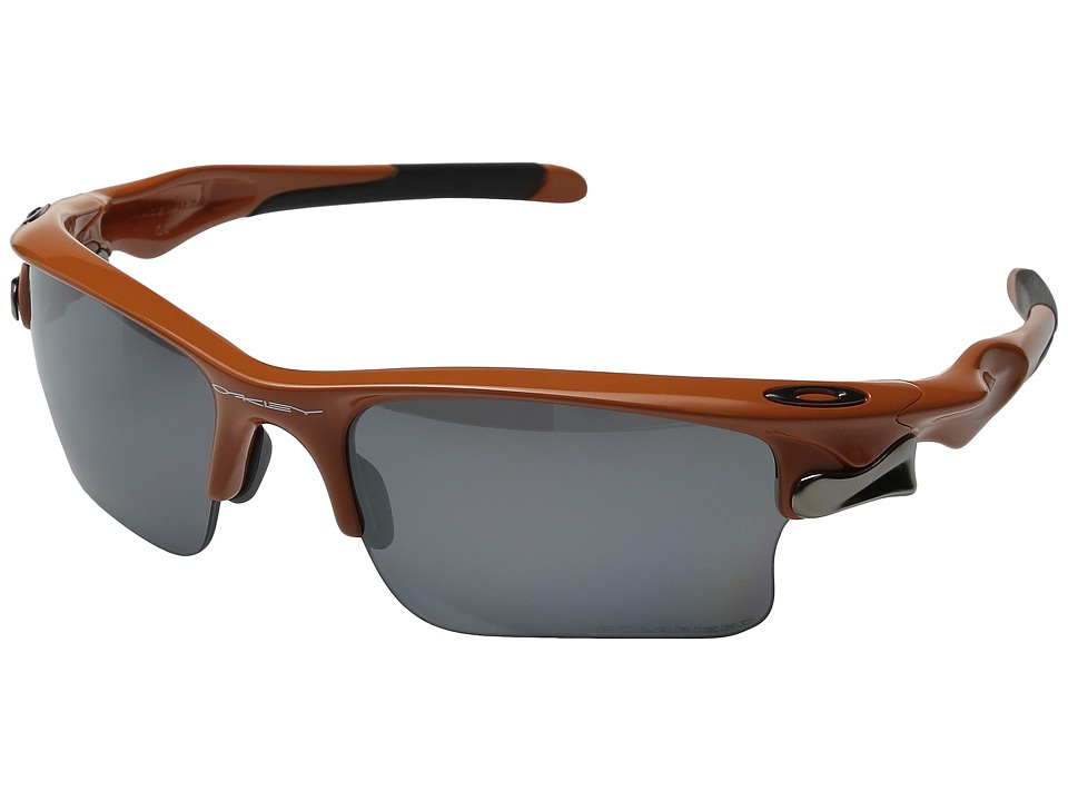 Oakley - Fast Jacket XL (Team Burnt Orange w/ Black Iridium Polarized) Polarized Sport Sunglasses