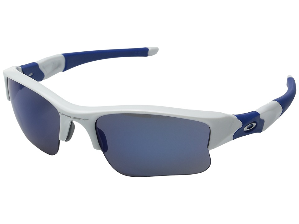 Oakley - Flak Jacket XLJ (Polished White w/ Ice Iridium) Sport Sunglasses