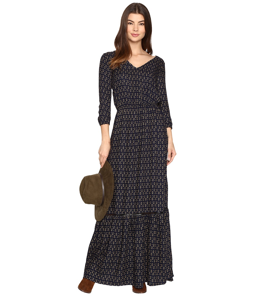 Jack by BB Dakota - Sibyl Printed Rayon Crepe Maxi Dress (Navy) Women's Dress