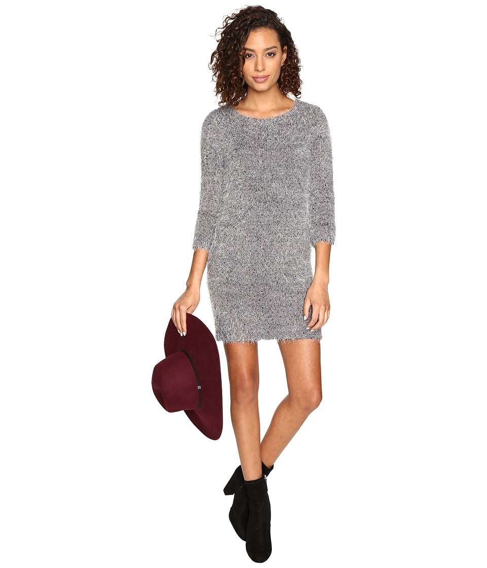 Jack by BB Dakota - Laurentia Eyelash Sweater Dress (Dark Charcoal) Women's Dress