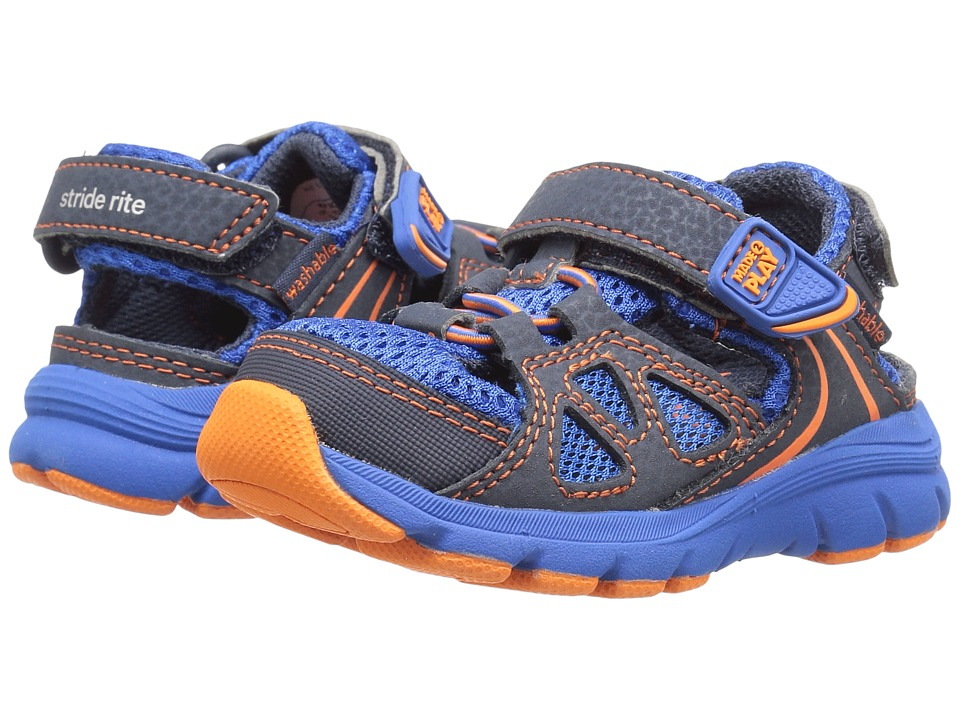 Stride Rite - Made 2 Play Scout (Toddler/Little Kid) (Navy/Royal) Boy's Shoes