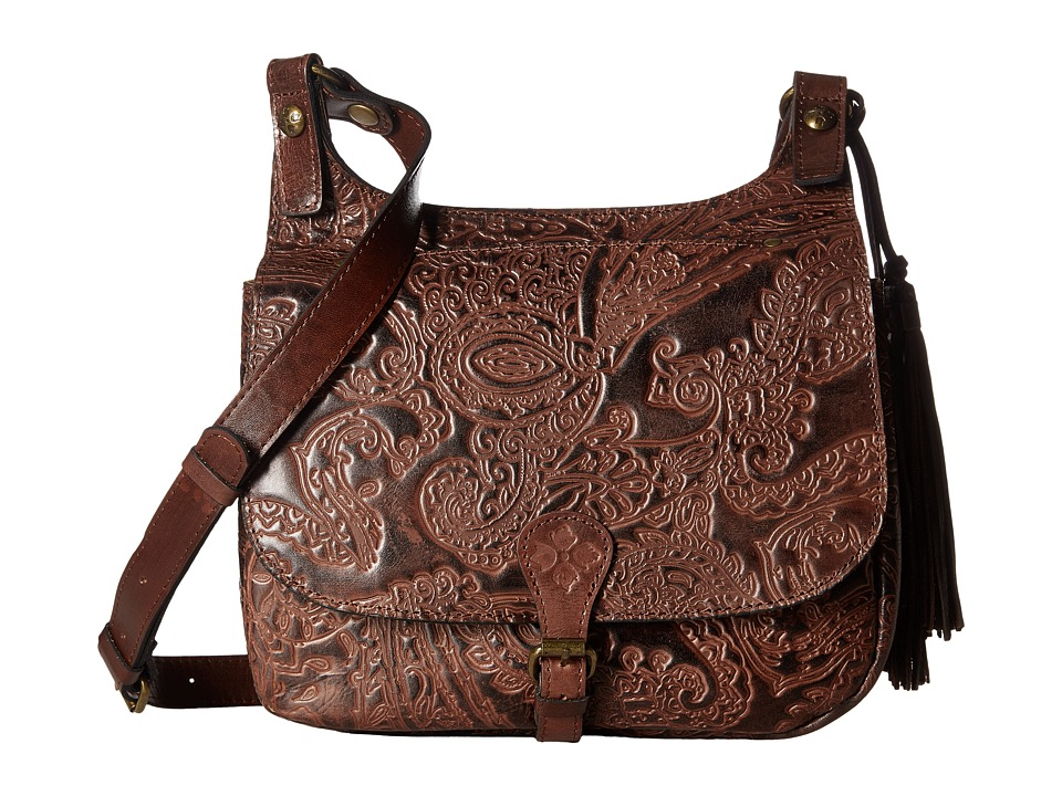 Patricia Nash - London Saddle Bag (Dark Brown) Handbags