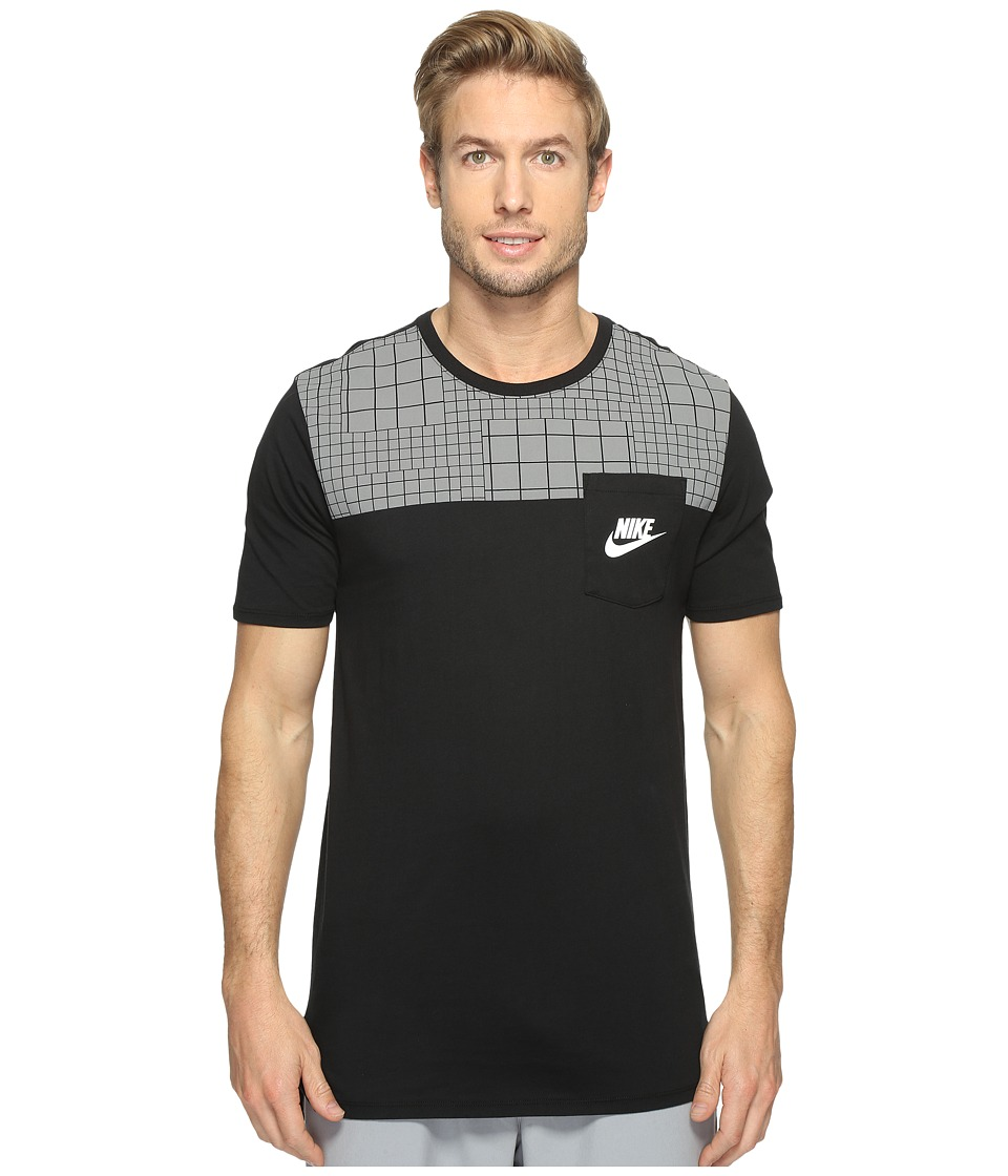 Nike - Sportswear Advance 15 T-Shirt (Black/Black/Black/Max Orange) Men's T Shirt