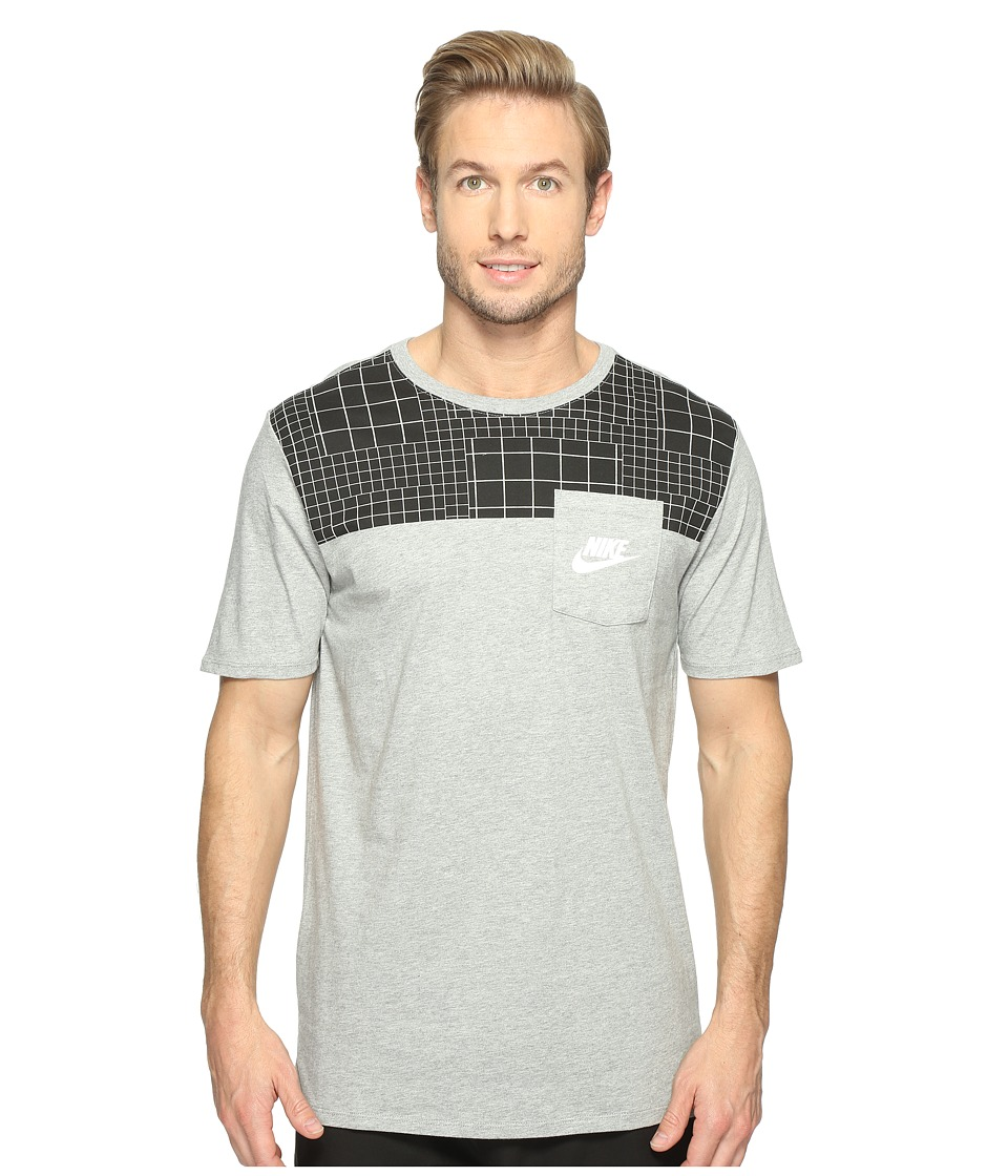 Nike - Sportswear Advance 15 T-Shirt (Dark Grey Heather/Anthracite/White) Men's T Shirt