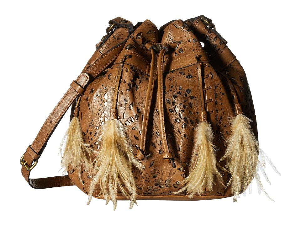 Patricia Nash - Picerno Drawstring Crossbody (Tan) Cross Body Handbags