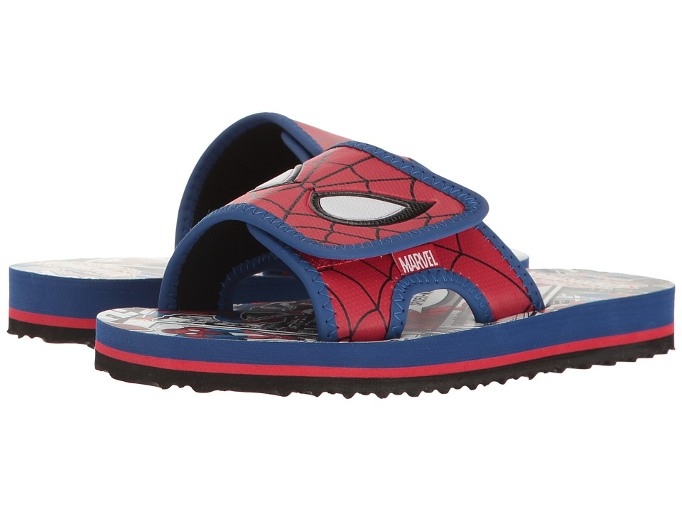 Stride Rite - Spectacular Spider-Man Slide (Little Kid) (Red/Royal) Boy's Shoes