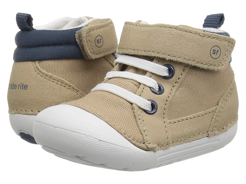 Stride Rite - SM Danny (Infant/Toddler) (Tan/Navy) Boy's Shoes