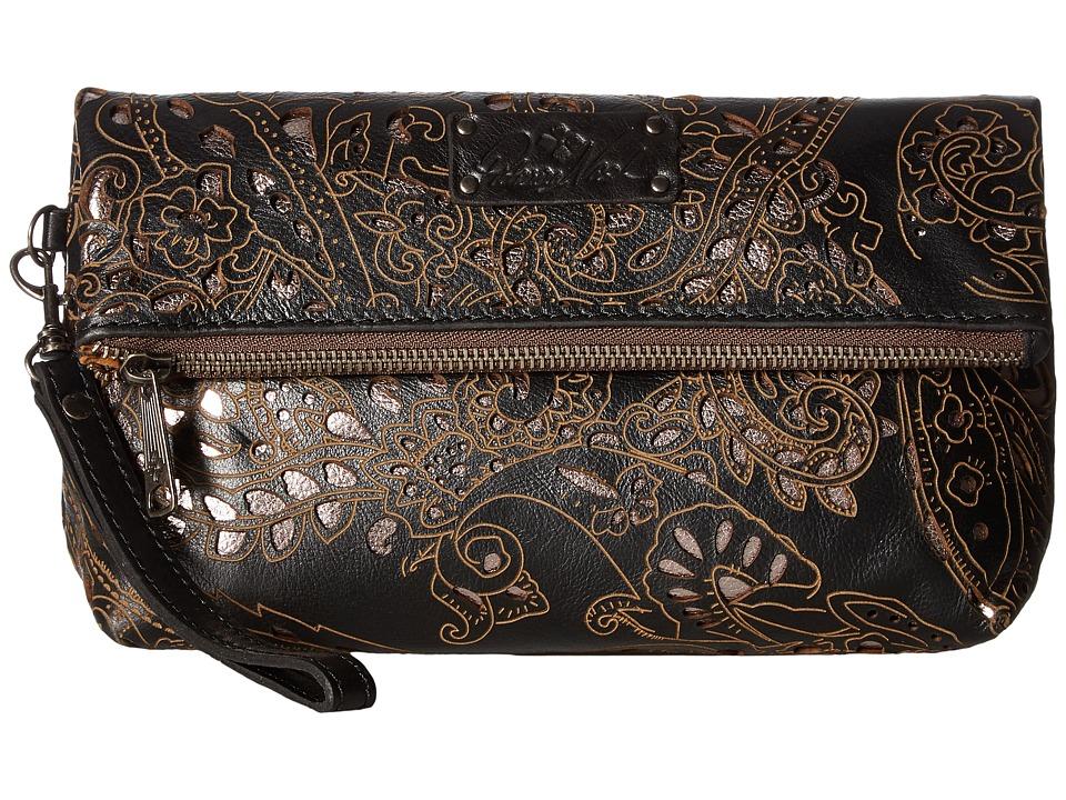 Patricia Nash - Valerie Fold-Over Wristlet (Black) Wristlet Handbags