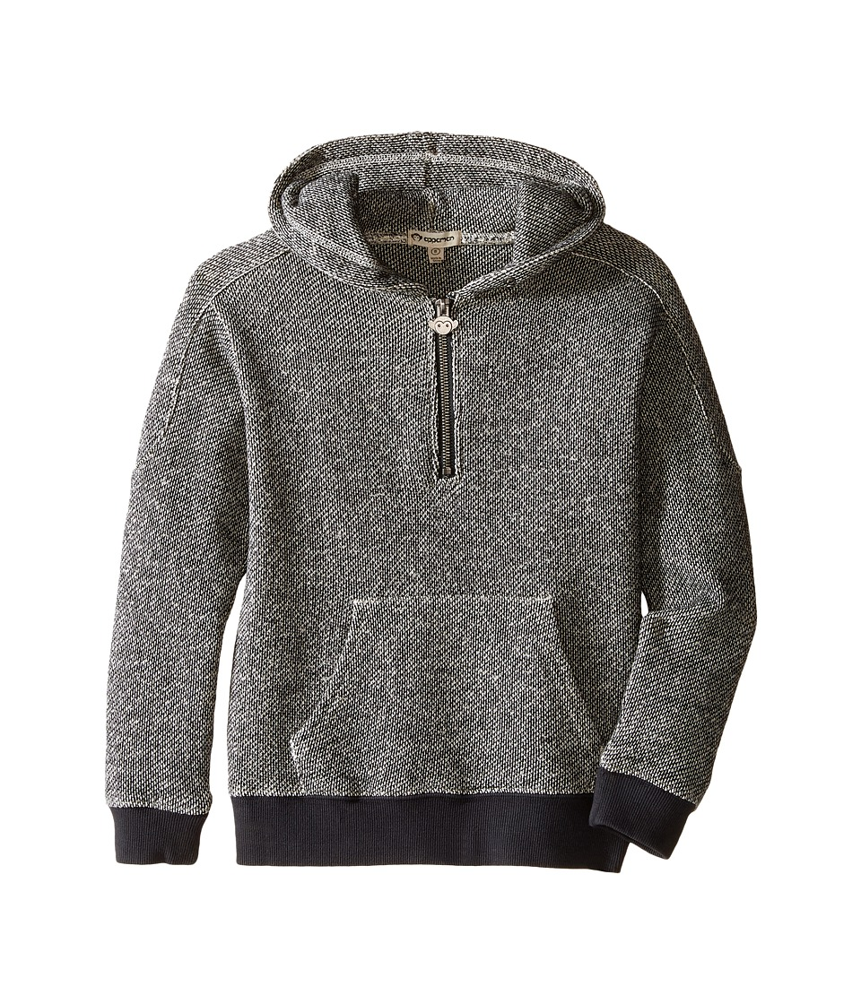 Appaman Kids - 1/2 Zip Hoodie (Toddler/Little Kids/Big Kids) (Black/White Novelty) Boy's Sweatshirt