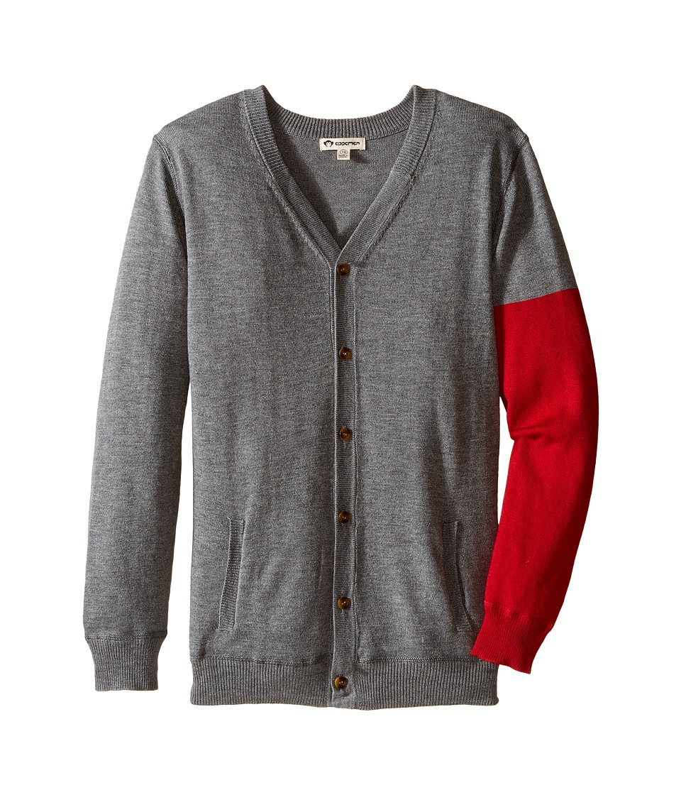 Appaman Kids - Prescott Cardigan (Toddler/Little Kids/Big Kids) (Light Grey Heather) Boy's Sweater