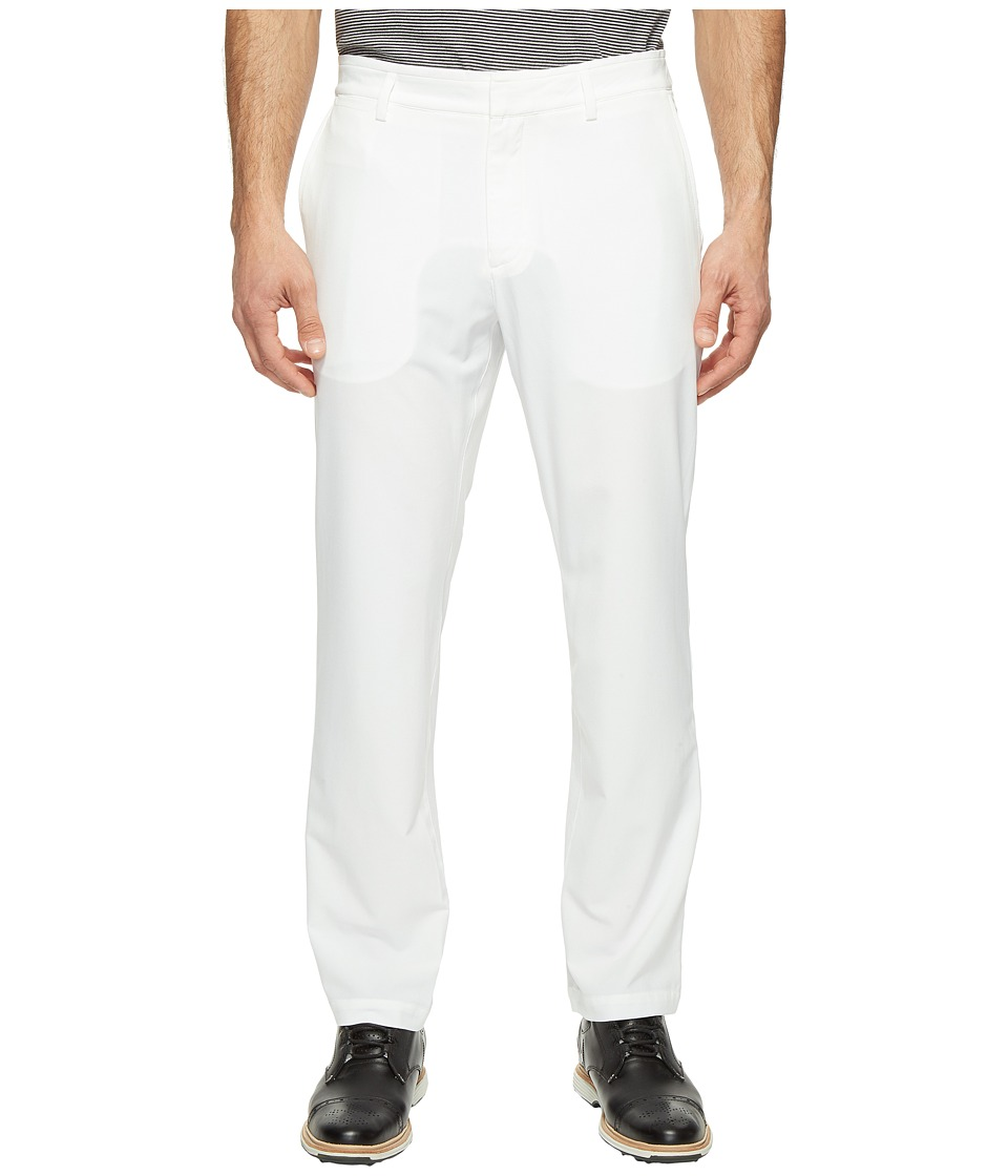 Nike Golf - Flat Front Stretch Woven Pants (White/Flat Silver) Men's Casual Pants