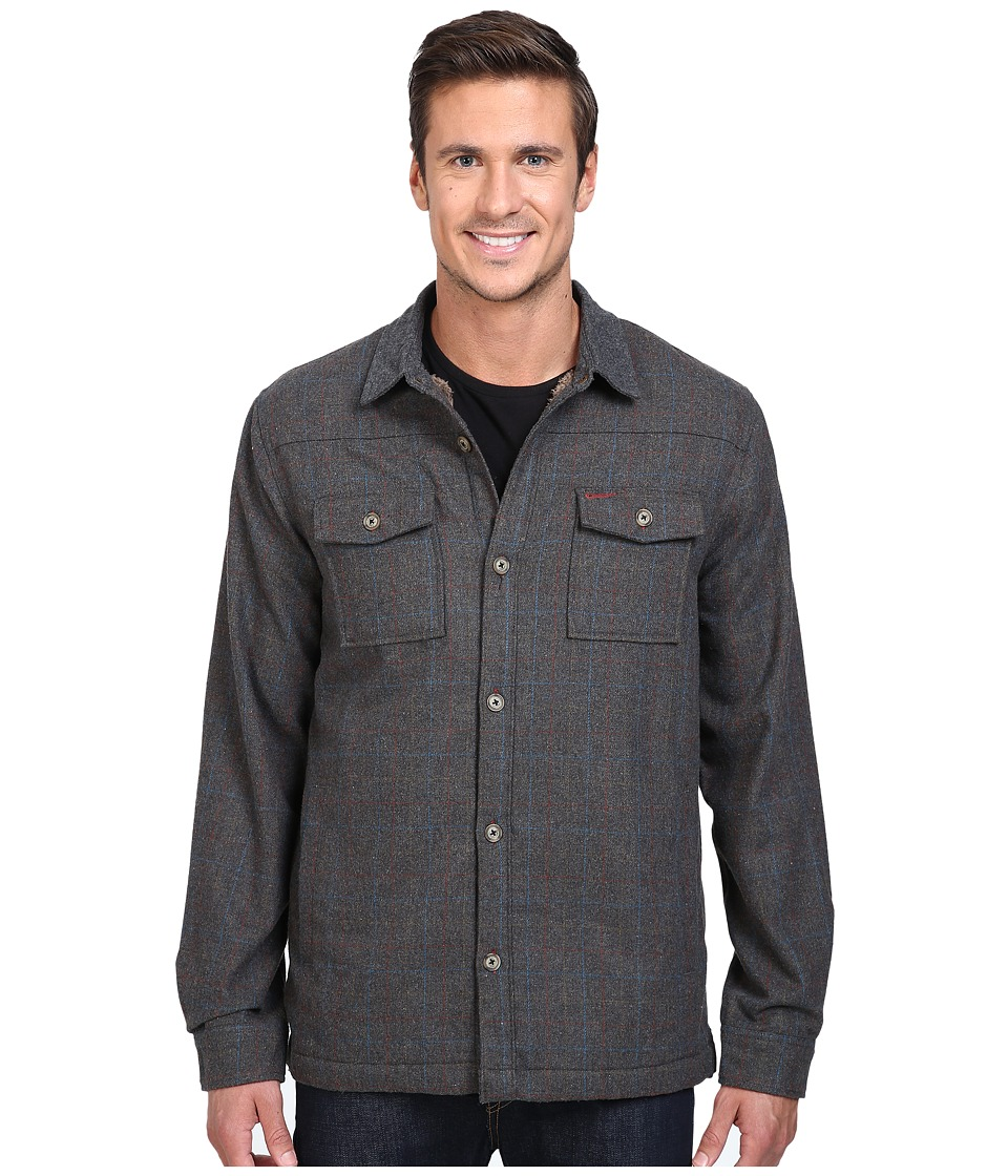Roark - Fog Bank Flannel (Charcoal) Men's Long Sleeve Button Up