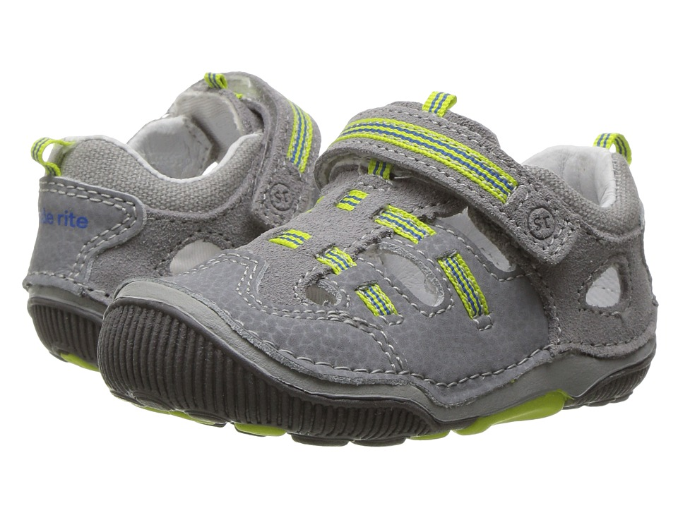 Stride Rite - SRT Reggie (Toddler) (Grey/Lime) Boys Shoes
