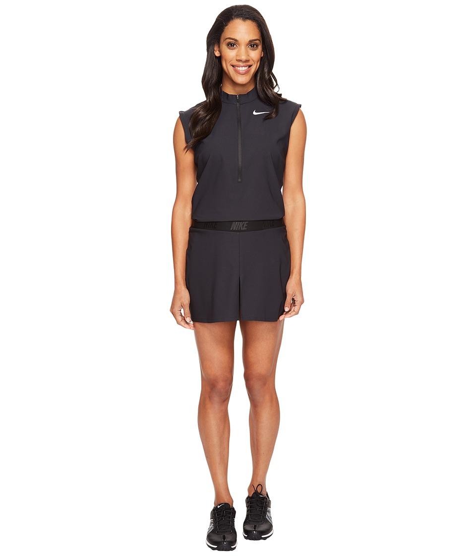 Nike Golf Woven Romper (Black/Flat Silver) Women