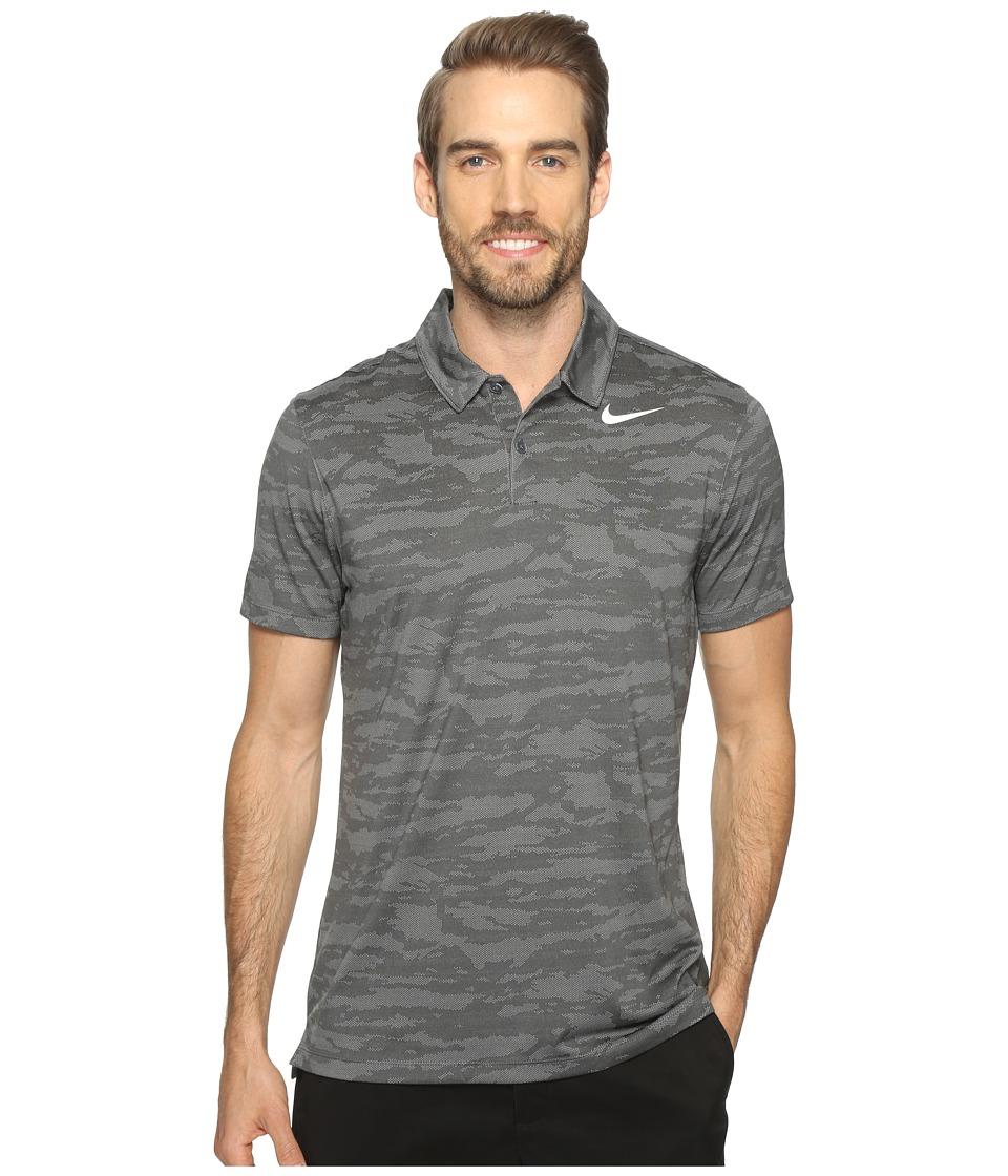 Nike Golf - Icon Jacquard Polo (Dark Grey/Wolf Grey/White) Men's Short Sleeve Pullover