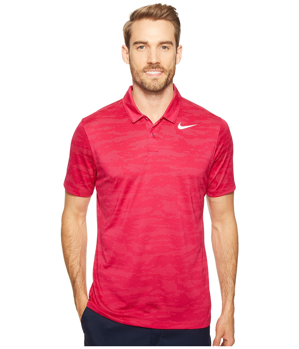 Nike Golf - Icon Jacquard Polo (Sport Fuchsia/Vivid Pink/White) Men's Short Sleeve Pullover