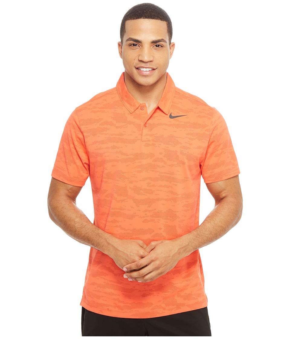 Nike Golf - Icon Jacquard Polo (Max Orange/Univeristy Red/Black) Men's Short Sleeve Pullover