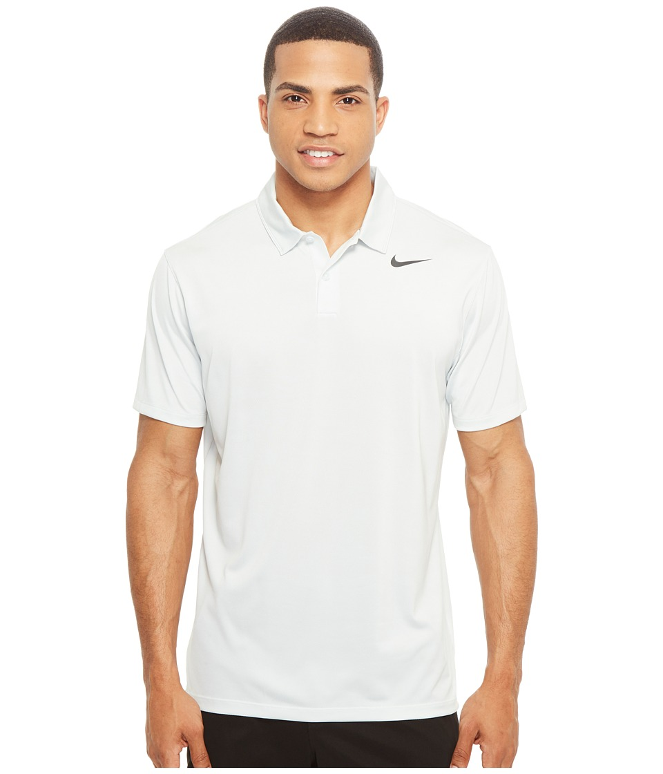 Nike Golf - Icon Jacquard Polo (Pure Platinum/White/Black) Men's Short Sleeve Pullover