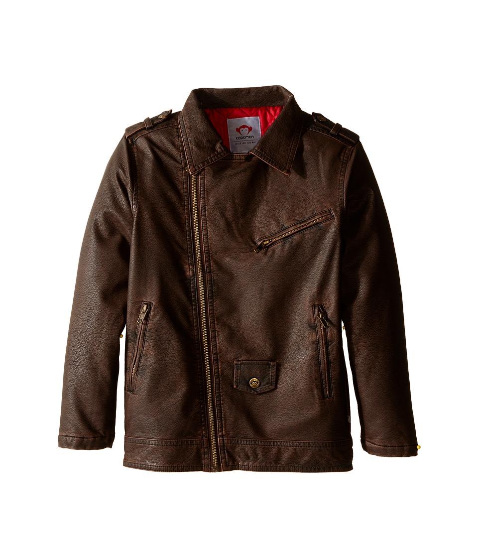 Appaman Kids - Midtown Moto Jacket (Toddler/Little Kids/Big Kids) (Bitter Chocolate) Boy's Coat