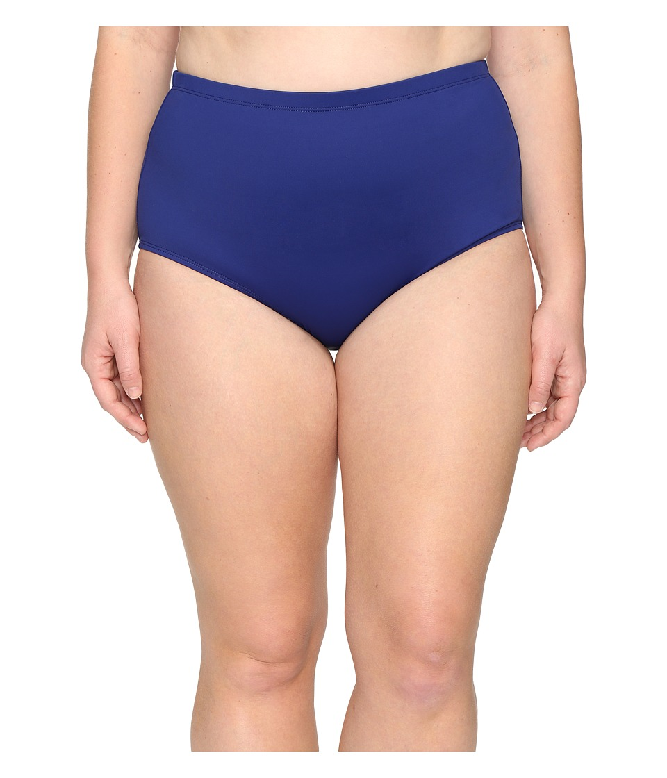 La Blanca Plus Size Island Goddess Solid Hipster (Midnight) Women