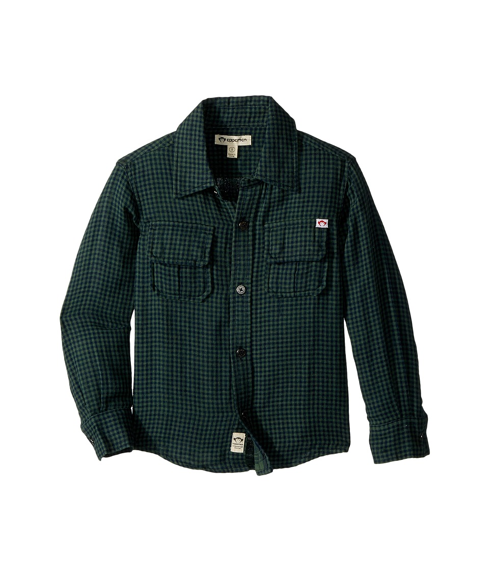 Appaman Kids - Mason Shirt (Toddler/Little Kids/Big Kids) (Four Leaf Gingham) Boy's Clothing