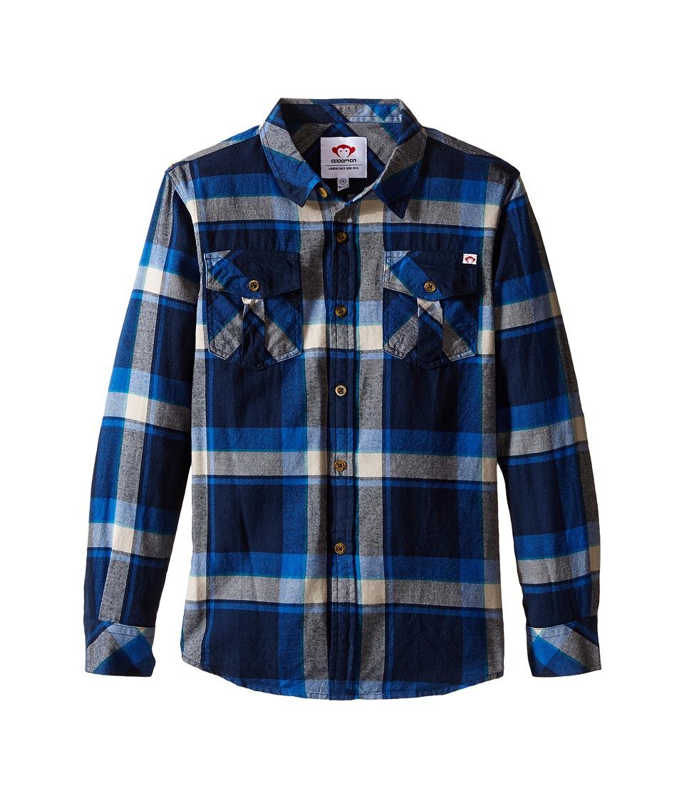 Appaman Kids - Flannel Shirt (Toddler/Little Kids/Big Kids) (Dress Blues Plaid) Boy's Clothing