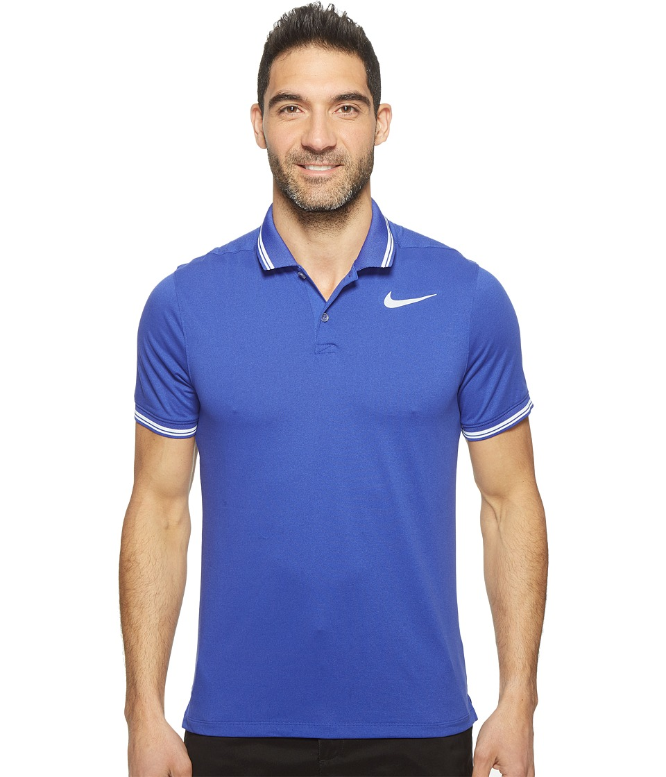 Nike Golf - Modern Fit TR Dry Tipped Polo (Deep Night/Heather/White/White) Men's Short Sleeve Pullover