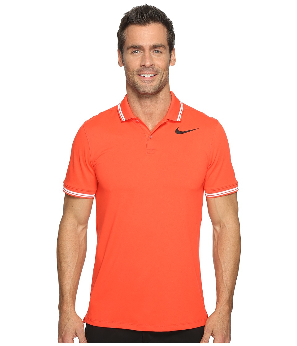 Nike Golf - Modern Fit TR Dry Tipped Polo (Max Orange/Heather/White/Black) Men's Short Sleeve Pullover