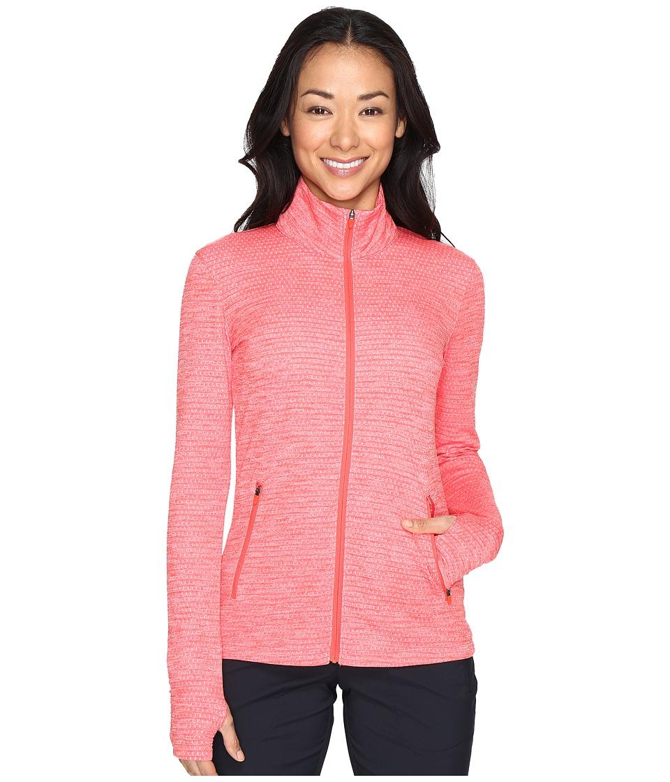 Nike Golf - Lucky Azalea Full-Zip Jacket (Max Orange/White) Women's Coat