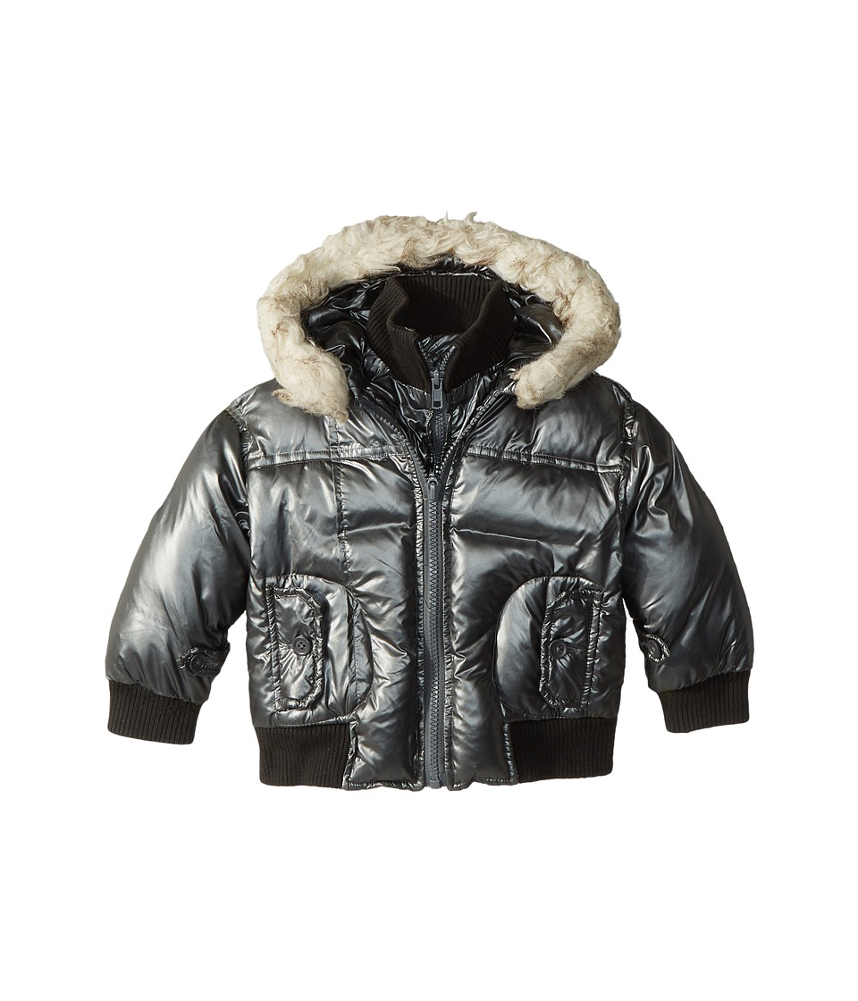 Appaman Kids - Gambit Puffer Coat (Toddler/Little Kids/Big Kids) (Black Steel) Boy's Coat