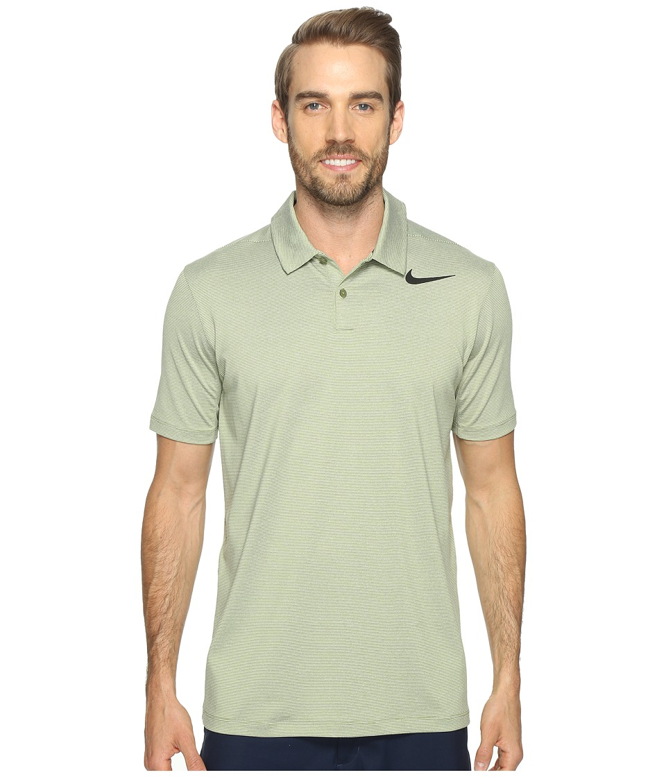 Nike Golf - Mobility Control Stripe Polo (Palm Green/Black) Men's Short Sleeve Pullover